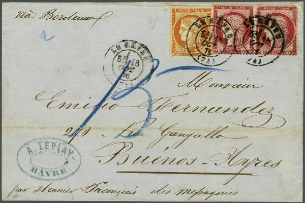 Lot 3078 - europe France -  Corinphila Auction AG Auction 220 (part 1):  EUROPE & OVERSEAS