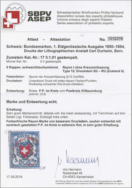 Lot 8202 - schweiz rayon i hellblau -  Corinphila Auction AG SWITZERLAND & LIECHTENSTEIN | Day 5