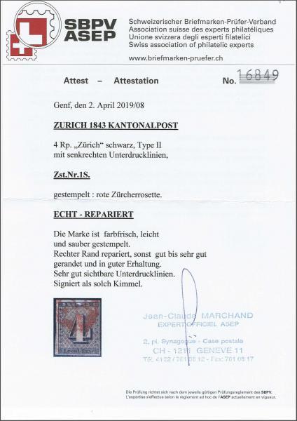 Lot 8036 - schweiz zürich -  Corinphila Auction AG SWITZERLAND & LIECHTENSTEIN | Day 5