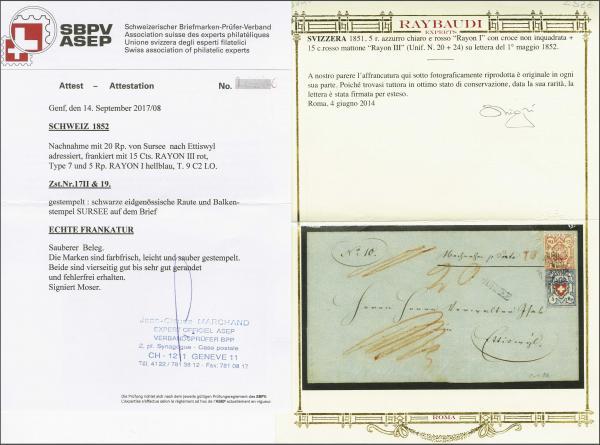 Lot 8476 - schweiz rayon iii -  Corinphila Auction AG SWITZERLAND & LIECHTENSTEIN | Day 5