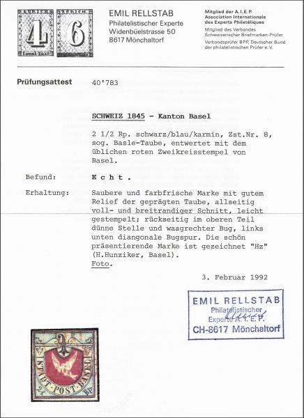 Lot 8128 - schweiz basel -  Corinphila Auction AG SWITZERLAND & LIECHTENSTEIN | Day 5
