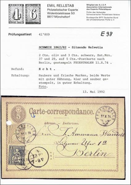 Lot 9015 - schweiz sitz. helvetia gez. -  Corinphila Auction AG SWITZERLAND & LIECHTENSTEIN | Day 6