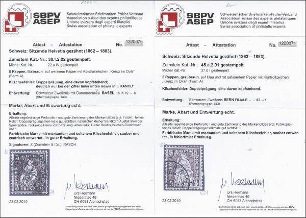 Lot 9003 - schweiz sitz. helvetia gez. -  Corinphila Auction AG SWITZERLAND & LIECHTENSTEIN | Day 6