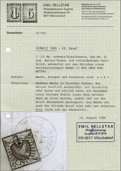 Lot 8132 - schweiz basel -  Corinphila Auction AG SWITZERLAND & LIECHTENSTEIN | Day 5