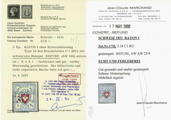 Lot 8212 - schweiz rayon i hellblau -  Corinphila Auction AG SWITZERLAND & LIECHTENSTEIN | Day 5