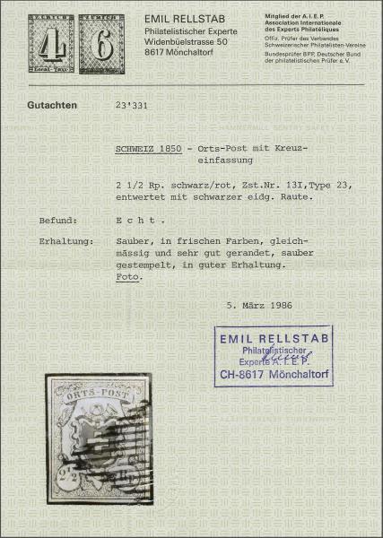 Lot 8135 - schweiz Bundesmarken -  Corinphila Auction AG SWITZERLAND & LIECHTENSTEIN | Day 5