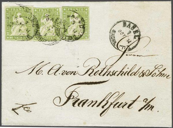 Lot 8521 - schweiz Sitz. Helvetia ungez. 'Strubel' -  Corinphila Auction AG SWITZERLAND & LIECHTENSTEIN | Day 5