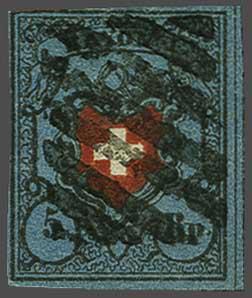 Lot 8168 - schweiz Rayon I dunkelblau -  Corinphila Auction AG SWITZERLAND & LIECHTENSTEIN   Day 5