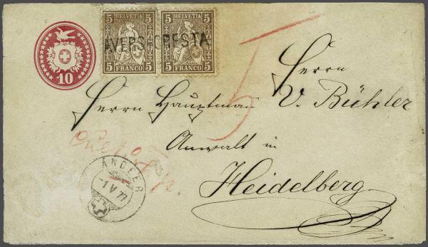 Lot 9024 - schweiz sitz. helvetia gez. -  Corinphila Auction AG SWITZERLAND & LIECHTENSTEIN | Day 6