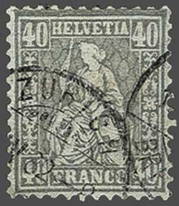 Lot 9007 - schweiz sitz. helvetia gez. -  Corinphila Auction AG SWITZERLAND & LIECHTENSTEIN | Day 6