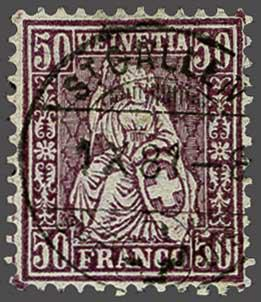 Lot 9008 - schweiz sitz. helvetia gez. -  Corinphila Auction AG SWITZERLAND & LIECHTENSTEIN | Day 6