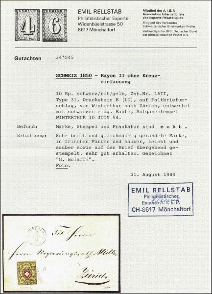 Lot 7025 - Switzerland rayon ii -  Corinphila Auction AG Day 5- Schweiz - Die Sammlung Erivan (Teil 1), Die Sammlung Jack Luder (Teil 5), Schweiz & Liechtenstein