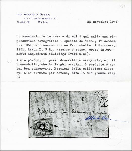 Lot 7026 - Switzerland rayon i light blue -  Corinphila Auction AG Day 5- Schweiz - Die Sammlung Erivan (Teil 1), Die Sammlung Jack Luder (Teil 5), Schweiz & Liechtenstein