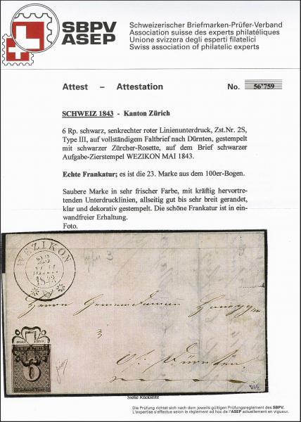Lot 7004 - Switzerland zürich -  Corinphila Auction AG Day 5- Schweiz - Die Sammlung Erivan (Teil 1), Die Sammlung Jack Luder (Teil 5), Schweiz & Liechtenstein