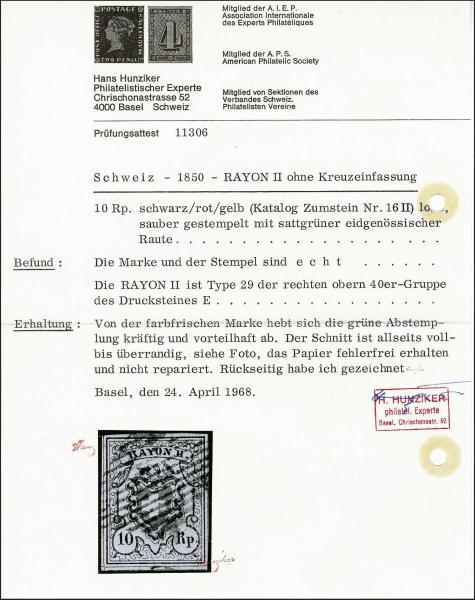 Lot 7024 - Switzerland rayon ii -  Corinphila Auction AG Day 5- Schweiz - Die Sammlung Erivan (Teil 1), Die Sammlung Jack Luder (Teil 5), Schweiz & Liechtenstein