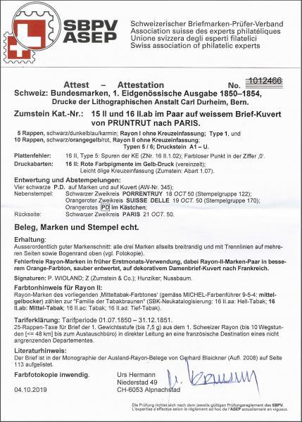 Lot 7020 - Switzerland rayon ii -  Corinphila Auction AG Day 5- Schweiz - Die Sammlung Erivan (Teil 1), Die Sammlung Jack Luder (Teil 5), Schweiz & Liechtenstein