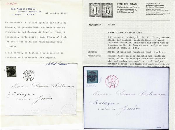 Lot 7009 - Switzerland geneva -  Corinphila Auction AG Day 5- Schweiz - Die Sammlung Erivan (Teil 1), Die Sammlung Jack Luder (Teil 5), Schweiz & Liechtenstein