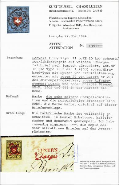 Lot 7021 - Switzerland rayon ii -  Corinphila Auction AG Day 5- Schweiz - Die Sammlung Erivan (Teil 1), Die Sammlung Jack Luder (Teil 5), Schweiz & Liechtenstein