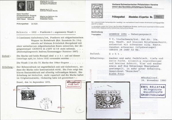 Lot 7111 - Switzerland geneva -  Corinphila Auction AG Day 5- Schweiz - Die Sammlung Erivan (Teil 1), Die Sammlung Jack Luder (Teil 5), Schweiz & Liechtenstein