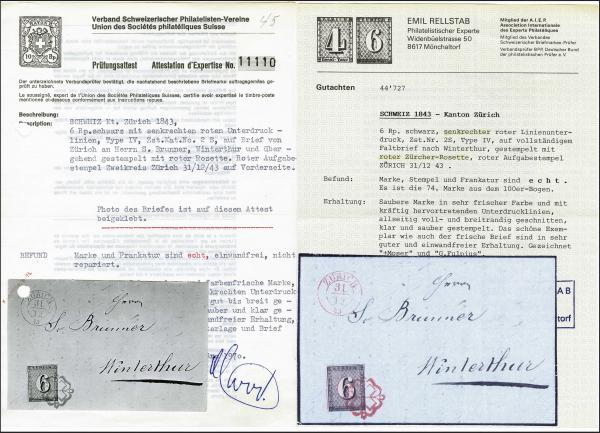 Lot 7002 - Switzerland zürich -  Corinphila Auction AG Day 5- Schweiz - Die Sammlung Erivan (Teil 1), Die Sammlung Jack Luder (Teil 5), Schweiz & Liechtenstein