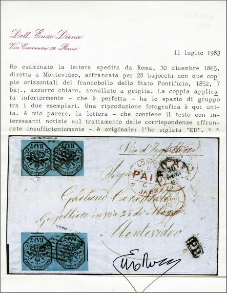 Lot 615 - europe papal state -  Corinphila Auction AG Day 2- Europe & Overseas, Austrian Levant