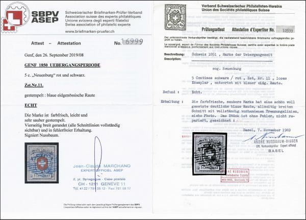 Lot 7014 - Switzerland geneva -  Corinphila Auction AG Day 5- Schweiz - Die Sammlung Erivan (Teil 1), Die Sammlung Jack Luder (Teil 5), Schweiz & Liechtenstein