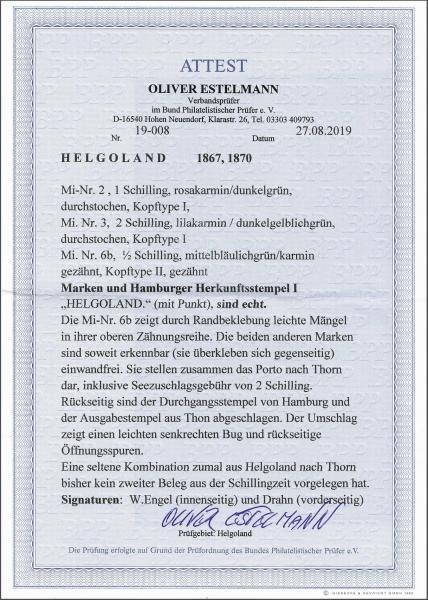 Lot 2345 - germany helgoland -  Corinphila Auction AG Day 4- Europe & Overseas, Zeppelin-Mail, Die Sammlung Erivan (Part I), Schweiz & Liechtenstein