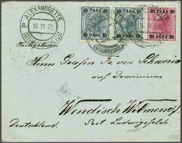 Lot 1111 - europe austrian levant -  Corinphila Auction AG Day 2- Europe & Overseas, Austrian Levant