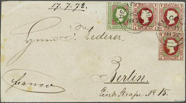 Lot 2348 - germany helgoland -  Corinphila Auction AG Day 4- Europe & Overseas, Zeppelin-Mail, Die Sammlung Erivan (Part I), Schweiz & Liechtenstein