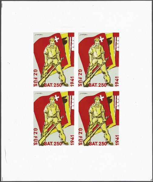 Lot 8221 - Switzerland soldier stamps -  Corinphila Auction AG Day 4- Europe & Overseas, Zeppelin-Mail, Die Sammlung Erivan (Part I), Schweiz & Liechtenstein