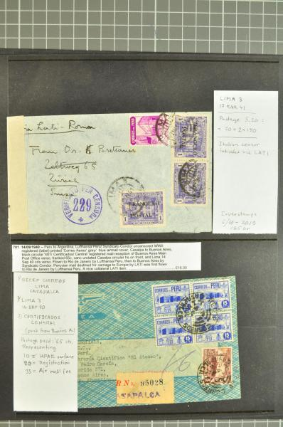 Lot 222 - Overseas Peru -  Corinphila Auction AG Day 1-  Europe & Overseas, South & Central America - the Brian Moorhouse Estate (Part Ii)