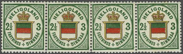 Lot 2354 - germany helgoland -  Corinphila Auction AG Day 4- Europe & Overseas, Zeppelin-Mail, Die Sammlung Erivan (Part I), Schweiz & Liechtenstein