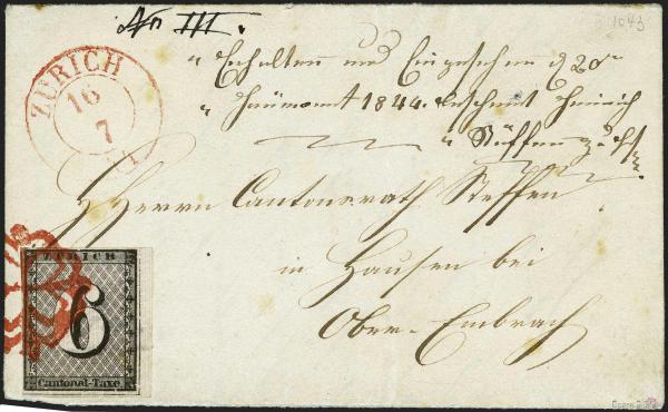Lot 7003 - Switzerland zürich -  Corinphila Auction AG Day 5- Schweiz - Die Sammlung Erivan (Teil 1), Die Sammlung Jack Luder (Teil 5), Schweiz & Liechtenstein
