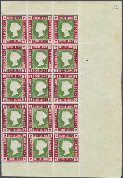 Lot 2346 - germany helgoland -  Corinphila Auction AG Day 4- Europe & Overseas, Zeppelin-Mail, Die Sammlung Erivan (Part I), Schweiz & Liechtenstein