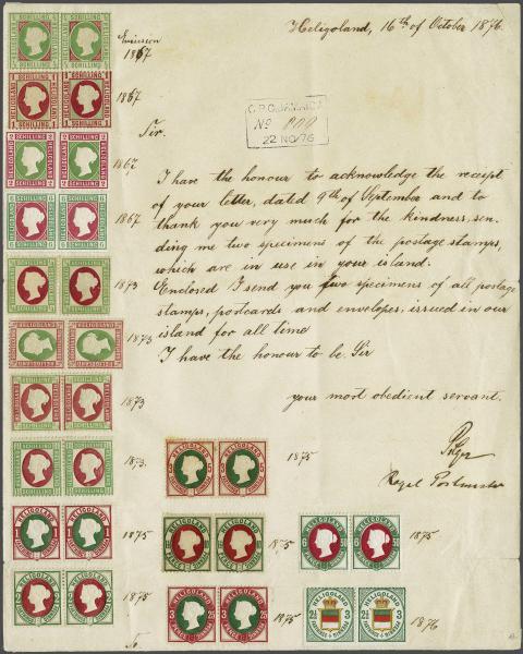 Lot 2340 - germany helgoland -  Corinphila Auction AG Day 4- Europe & Overseas, Zeppelin-Mail, Die Sammlung Erivan (Part I), Schweiz & Liechtenstein