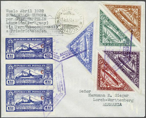 Lot 5191 - Overseas Paraguay -  Corinphila Auction AG Day 4- Europe & Overseas, Zeppelin-Mail, Die Sammlung Erivan (Part I), Schweiz & Liechtenstein