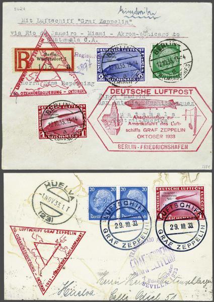 Lot 5089 - germany zeppelin mail -  Corinphila Auction AG Day 4- Europe & Overseas, Zeppelin-Mail, Die Sammlung Erivan (Part I), Schweiz & Liechtenstein