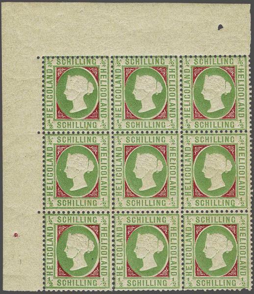 Lot 2349 - germany helgoland -  Corinphila Auction AG Day 4- Europe & Overseas, Zeppelin-Mail, Die Sammlung Erivan (Part I), Schweiz & Liechtenstein