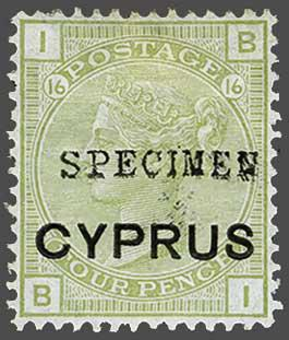 Lot 1882 - brit. colonies Cyprus -  Corinphila Auction AG Day 3 - Great Britain, British Colonies, Pre-Union South Africa - the Besançon Collection (Part Ii)