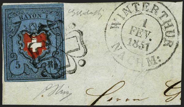 Lot 7018 - Switzerland Rayon I darkblue -  Corinphila Auction AG Day 5- Schweiz - Die Sammlung Erivan (Teil 1), Die Sammlung Jack Luder (Teil 5), Schweiz & Liechtenstein