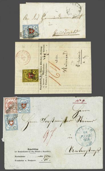 Lot 8434 - Switzerland rayon -  Corinphila Auction AG Day 4- Europe & Overseas, Zeppelin-Mail, Die Sammlung Erivan (Part I), Schweiz & Liechtenstein