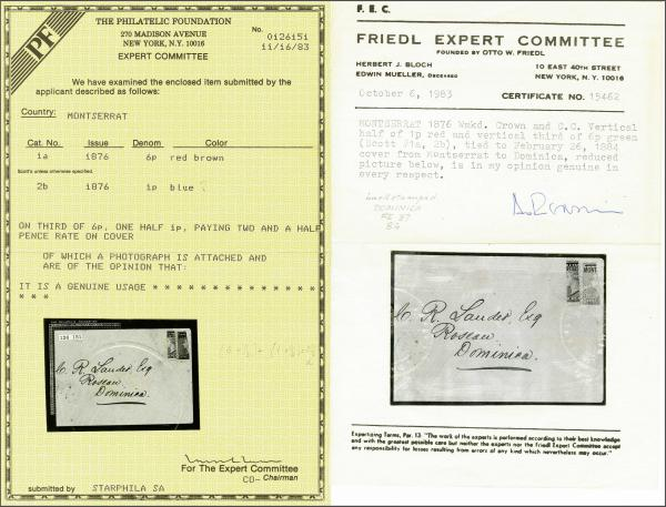 Lot 4152 - brit. colonies montserrat -  Corinphila Auction AG Auction 250 - 256 Day 2