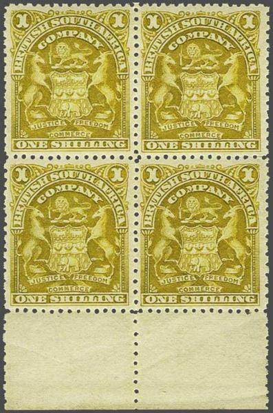 Lot 607 - brit. colonies rhodesia -  Corinphila Auction AG Auction 250 - 256 Day 3