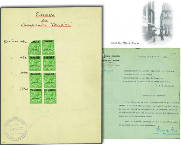 Lot 492 - brit. colonies Brit. Post Morocco -  Corinphila Auction AG Auction 250 - 256 Day 3