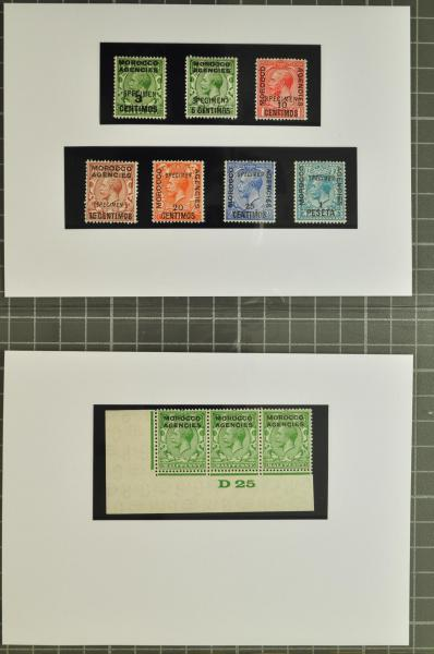 Lot 494 - brit. colonies Brit. Post Morocco -  Corinphila Auction AG Auction 250 - 256 Day 3