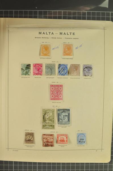 Lot 1592 - brit. colonies Malta -  Corinphila Auction AG Auction Series 257-264 in Zurich Day 1