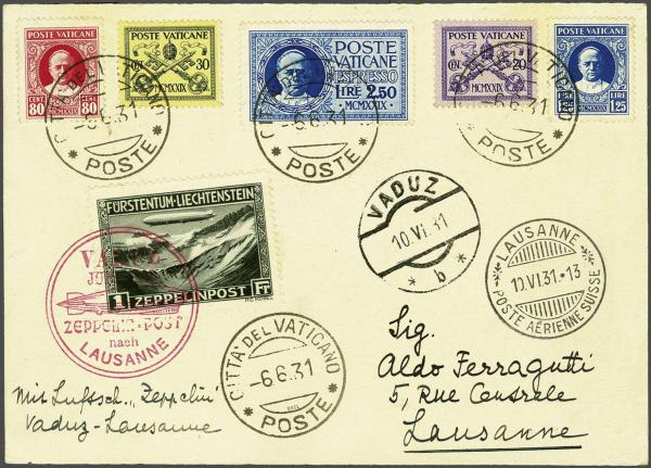 Lot 498 - zeppelin Zeppelin & Airmail -  Corinphila Auction AG Auction Series 257-264 in Zurich Day 3