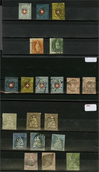 Lot 9760 - Switzerland cantonals (lots) -  Corinphila Auction AG Auction Series 257-264 in Zurich Day 5