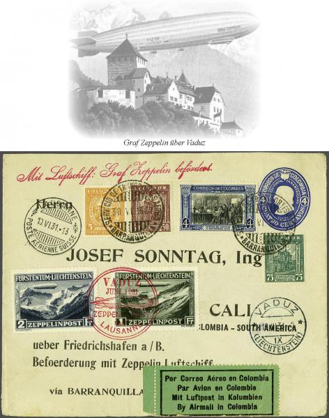 Lot 497 - zeppelin Zeppelin & Airmail -  Corinphila Auction AG Auction Series 257-264 in Zurich Day 3