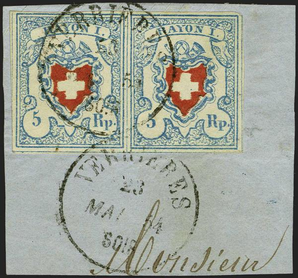 Lot 7031 - Switzerland rayon i light blue -  Corinphila Auction AG Auction Series 257-264 in Zurich Day 6